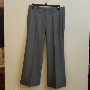 Gap Cuff gray trouser pants size 12 long